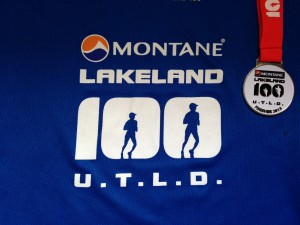 Lakeland 100 medal and t-shirt