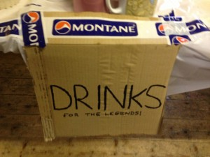 The Team Montane Drink station at Kentmere
