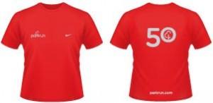 parkrun 50 t-shirt